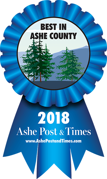 Awarded Best of Ashe County 2018